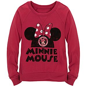 Raglan Long Sleeve Minnie Mouse Tee for Girls