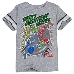 Marvel Earths Mightiest Heroes Avengers Tee for Boys by Mighty Fine