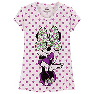 Polka Dot Minnie Mouse Tee for Girls