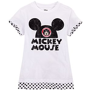 Layered Mickey Mouse Club Tee for Girls
