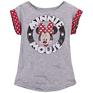 Logo Minnie Mouse Tee for Girls