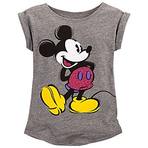 Rhinestud Mickey Mouse Tee for Girls