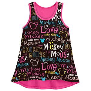 Neon Pop Mickey Mouse Tank Top for Girls