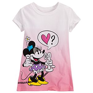 Dipped Dye Minnie and Mickey Mouse Tee for Girls
