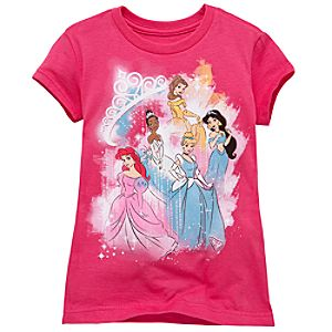 Celebration Sparkles Disney Princess Tee for Girls -- Made With Organic Cotton