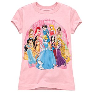 Glittering Disney Princess Tee for Girls -- Made With Organic Cotton