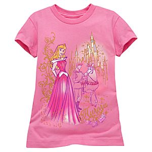 Sketch Sleeping Beauty Tee for Girls -- Made With Organic Cotton