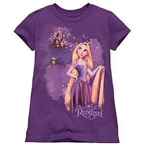 Nighttime Tangled Rapunzel Tee for Girls -- Made With Organic Cotton