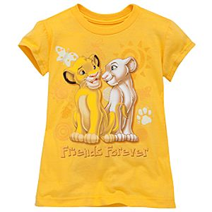 Friends Forever Nala and Simba Tee for Girls -- Made With Organic Cotton