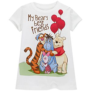 Winnie the Pooh and Friends Tee for Girls -- Made With Organic Cotton