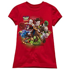 Red Toy Story 3 Tee for Girls
