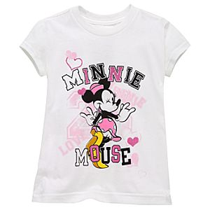 Collegiate Minnie Mouse Tee for Girls -- Made With Organic Cotton