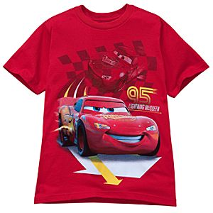 Red Lightning McQueen Tee for Kids -- Made With Organic Cotton