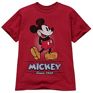 Red Classic Mickey Mouse Tee for Kids -- Made With Organic Cotton