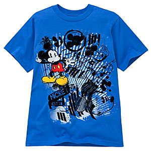 Blue Sketch Mickey Mouse Tee for Kids -- Made With Organic Cotton