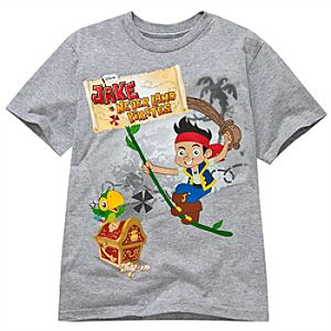 Gray Jake and the Never Land Pirates Tee for Boys -- Made With Organic Cotton