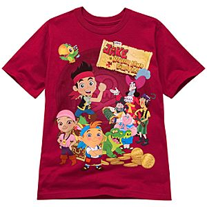 Red Jake and the Never Land Pirates Tee for Boys -- Made With Organic Cotton