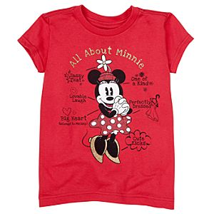 All About Minnie Minnie Mouse Tee for Girls -- Made With Organic Cotton