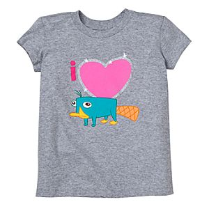 Glitter I ♥ Perry Tee for Girls -- Made With Organic Cotton