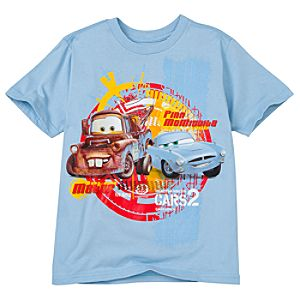 Finn McMissile and Tow Mater Cars 2 Tee for Boys -- Made With Organic Cotton