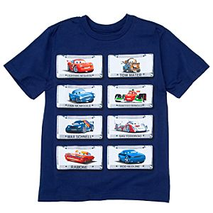 License Plate Cars 2 Tee for Boys -- Made With Organic Cotton