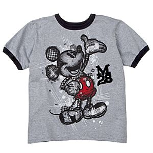 Ringer Mickey Mouse Tee for Boys -- Made With Organic Cotton