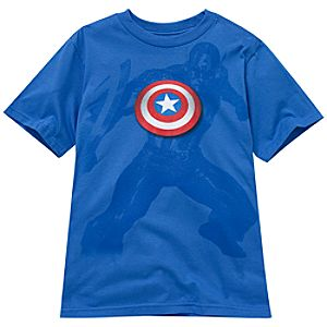 Captain America Tee for Boys -- Made with Organic Cotton