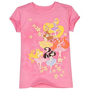 Ballerina Disney Princess Tee for Girls