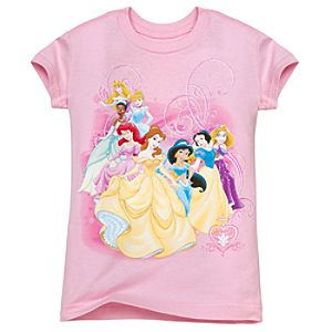 Glitter Disney Princess Tee for Girls -- Made With Organic Cotton