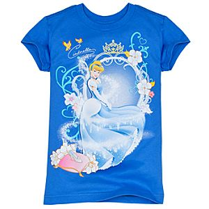 Sparkling Signature Cinderella Tee for Girls -- Made With Organic Cotton