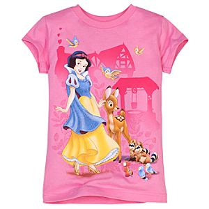 Glittering Forest Snow White Tee for Girls -- Made With Organic Cotton