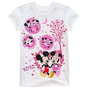 XOXO Minnie and Mickey Mouse Tee for Girls -- Made With Organic Cotton
