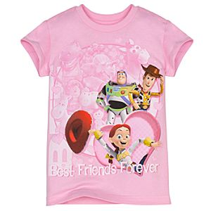 Glittering Hearts Toy Story Tee for Girls