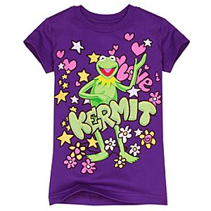 The Muppets Kermit the Frog Tee for Girls
