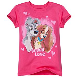 Lady and the Tramp Tee for Girls -- Made With Organic Cotton