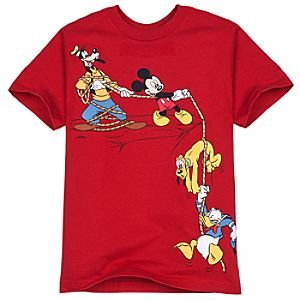 Edge of the Cliff Mickey Mouse and Friends Tee for Boys