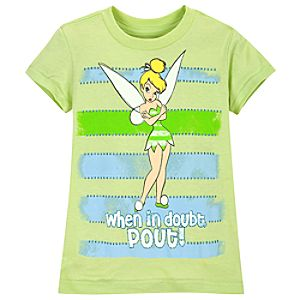 When in Doubt, Pout! Tinker Bell Tee for Girls