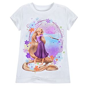 Painting Tangled Rapunzel Tee for Girls