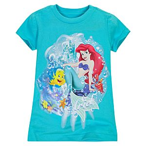 Flounder and Ariel Tee for Girls