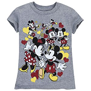 Sweethearts Minnie and Mickey Mouse Tee for Girls