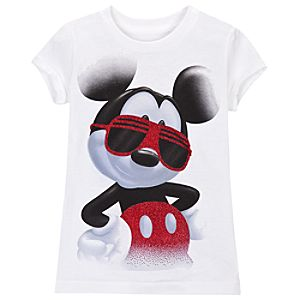 Shades Mickey Mouse Tee for Girls