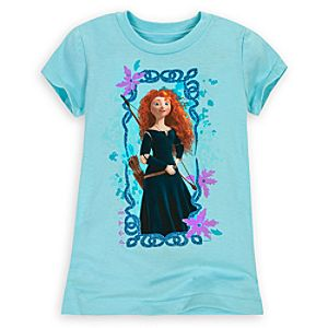 Brave Merida Tee for Girls -- Blue