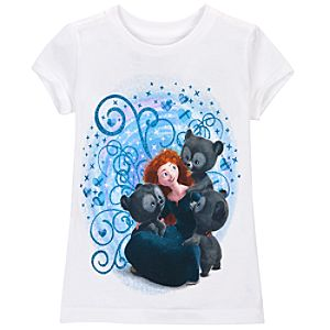 Brave Merida Tee for Girls -- White