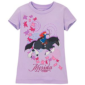 Brave Merida Tee for Girls -- Purple