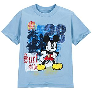 Surf Side Mickey Mouse Tee for Boys
