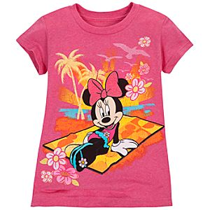 Summer Brights Minnie Mouse Tee for Girls