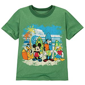 Surfing Mickey Mouse and Friends Tee for Boys