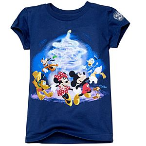 Disney Store 25th Anniversary World of Disney Tee for Girls