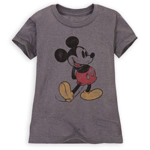Cap Sleeve Classic Mickey Mouse Tee for Girls