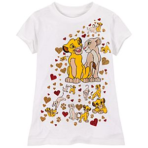 Simba and Nala The Lion King Tee for Girls